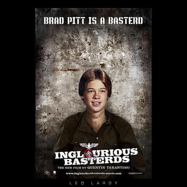 Inglourious Basterds movie poster Brad Pitt