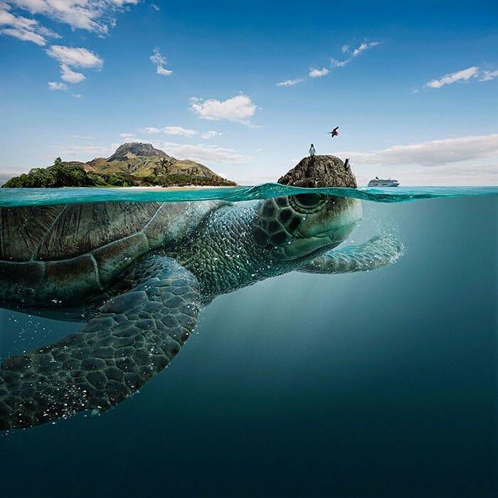 5 Paisagens paradisíacas transformadas em monstros marinhos pelo Photoshop