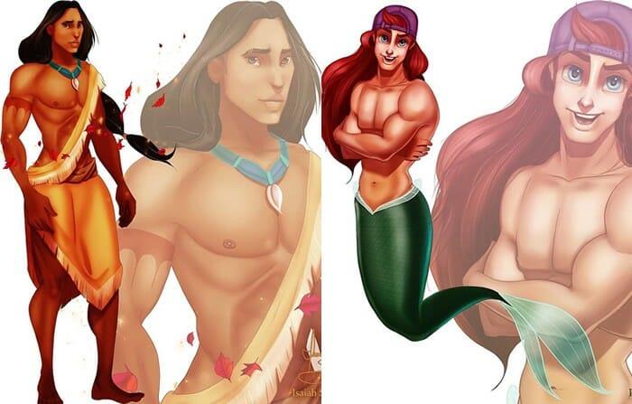 E se... As Princesas da Disney Fossem Homens?