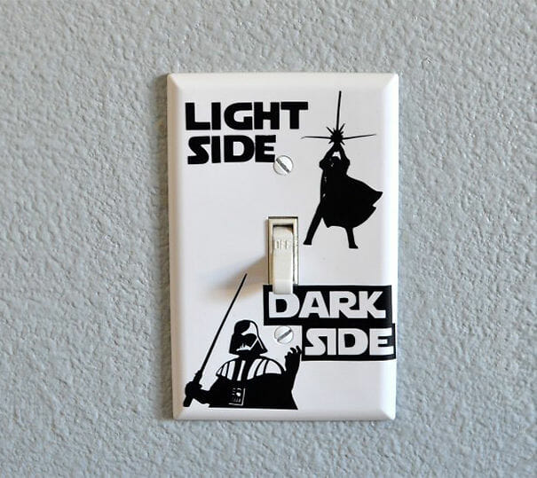 Adesivo para interruptor Light Side / Dark Side