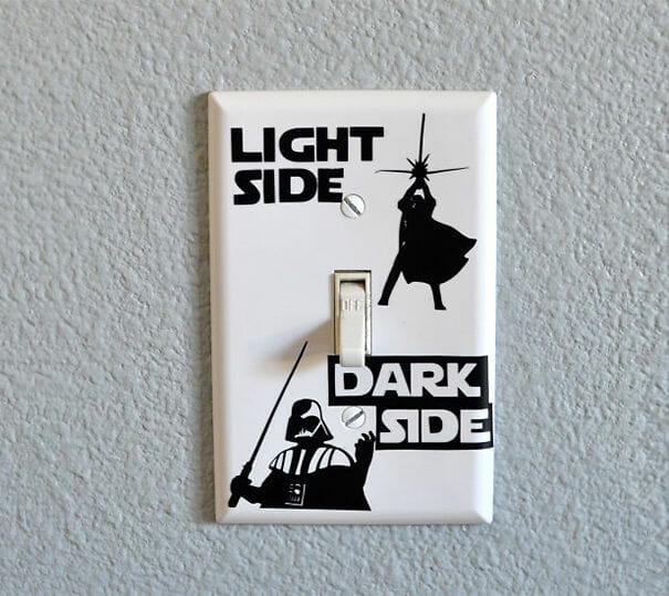 Adesivo para interruptor Light Side / Dark Side