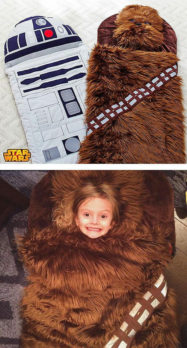 Sacos de dormir R2-D2 e Chewie