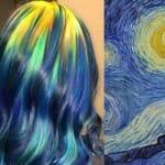 Estilista de cabelos faz sucesso nos EUA por criar tinturas inspiradas em pinturas clássicas famosas