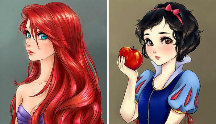 princesas-disney-personagens-anime