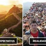 Expectativa vs. Realidade durante Viagens: 40 Comparativos que poderão fazer você desistir de viajar