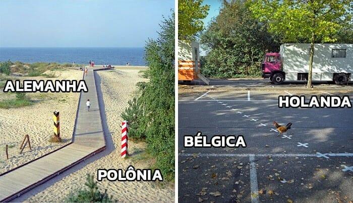 Conheça as magníficas fronteiras pacíficas que dividem os Países Europeus