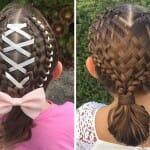 Mãe faz sucesso na internet criando um modelo de trança diferente na filha todos os dias