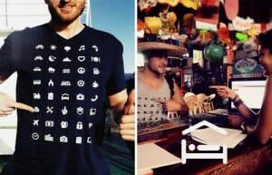 IconSpeak - Uma camiseta genial com ícones para ajudar turistas a se comunicar