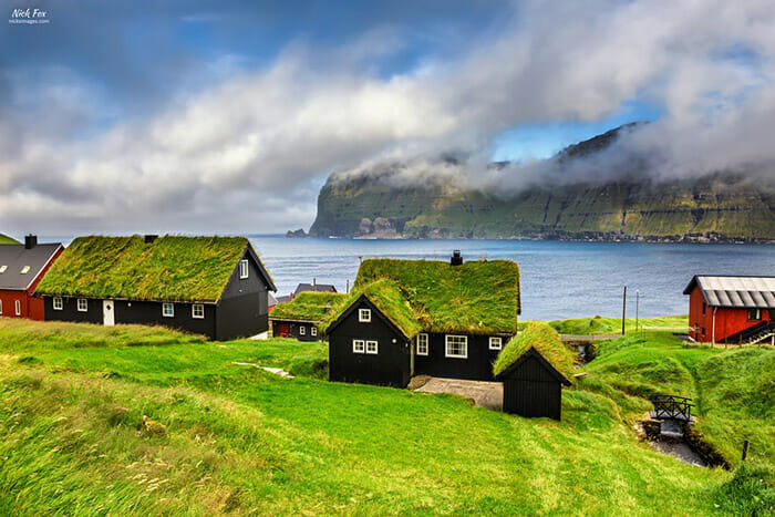 Village of Mikladalur, Faroe Islands, Denmark