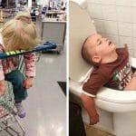 56 Imagens Hilárias Que Provam Que Crianças Podem Dormir Em Qualquer Lugar