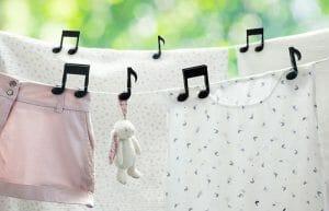 Prendedores Notas Musicais Transformam Seu Varal Em Uma Verdadeira Partitura