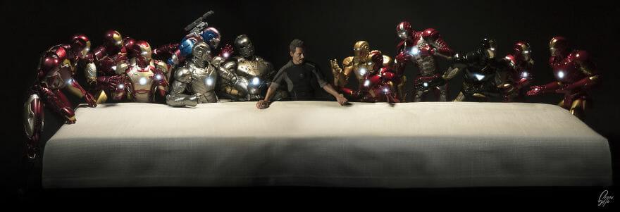 9 Obras De Arte Clássicas Hilariamente Representadas Pelo Homem De Ferro