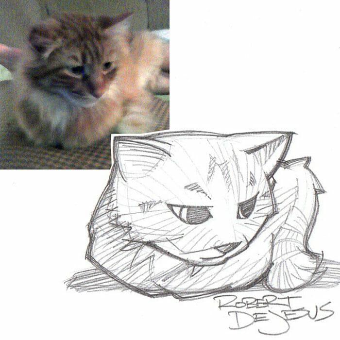 35 Pessoas e Pets Transformadas Em Cartoons Por Um Artista Talentoso
