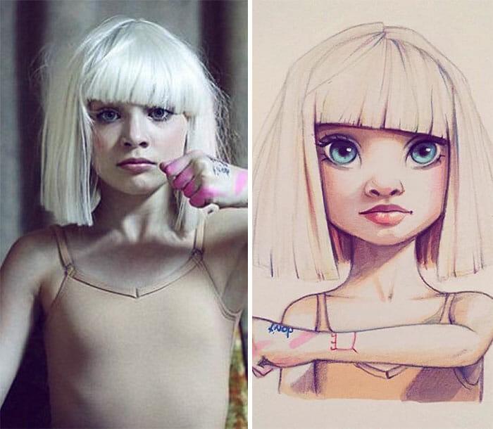 14 Celebridades Transformadas Em Cartoons Adoráveis Por Uma Artista Russa