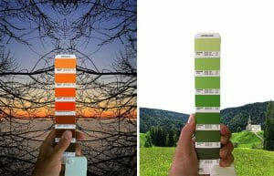 Designer Captura As Cores De Paisagens Do Mundo Combinando-as Com Pantones