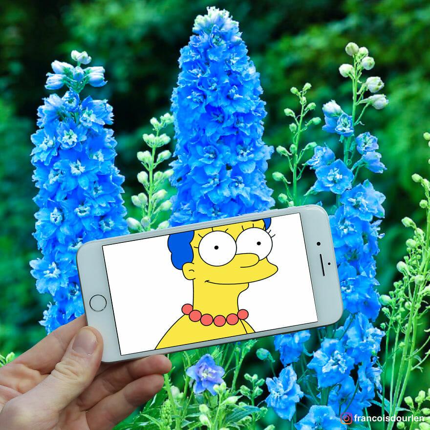 Fotógrafo Encaixa Personagens Dos Simpsons Em Situações Da Vida Real Usando Seu iPhone