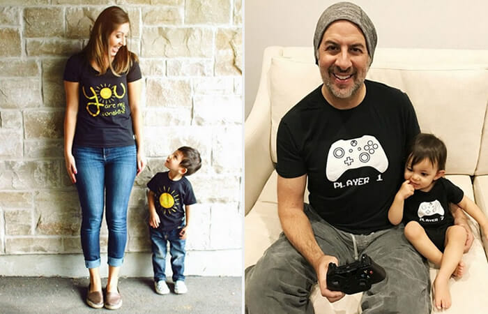 12 Camisetas Inteligentes e Engraçadas Para Casais e Pais e Filhos ... 5843149d0c3de