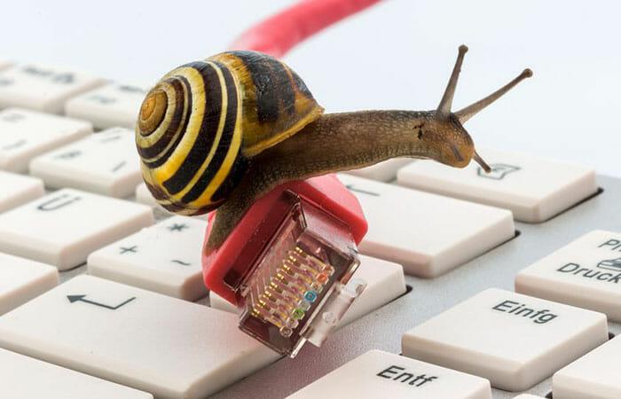 Problema de internet lenta