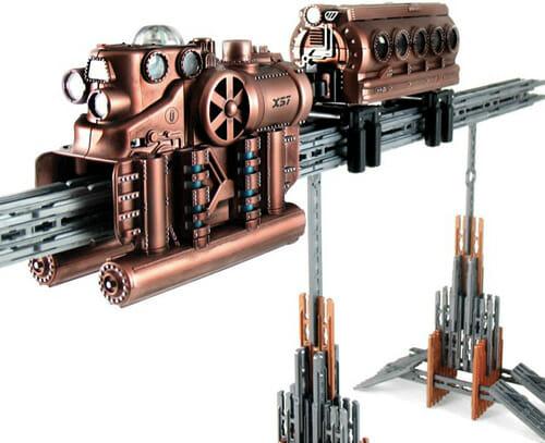 Monorail estilo Steampunk - Chega de trens de brinquedo convencionais!