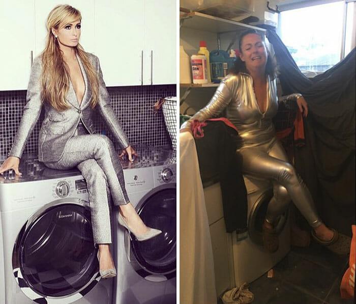 70 Fotos Cômicas Da Mulher Que Imita Celebridades Nas Redes Sociais