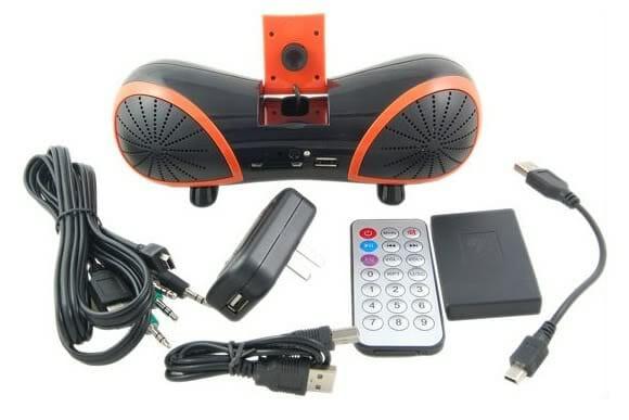 Speaker com Webcam em forma de Amendoim.