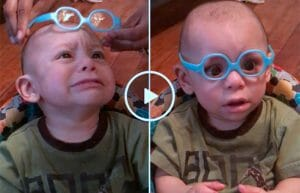 VÍDEO: Bebê Tem Reação Adorável Ao Provar Seus Óculos Pela Primeira Vez