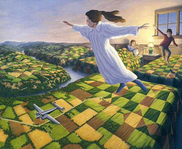 25 Pinturas De Ilusão De Ótica Incríveis Que Vão Confundir Seu Cérebro
