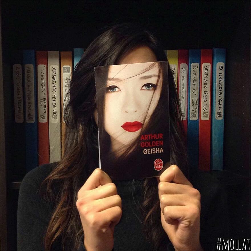 45 Ilusões de Ótica Criativas Feitas Com Capas de Livros - Parte II