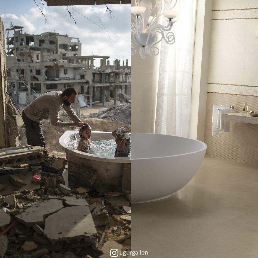 Imagens Impressionantes Revelam o Contraste Entre Dois Mundos Que Vivemos
