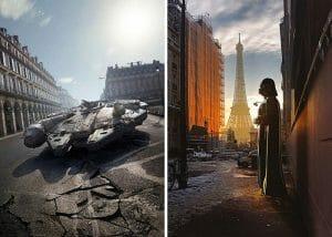 12 Montagens Incríveis do Universo Star Wars Invadindo Nosso Planeta