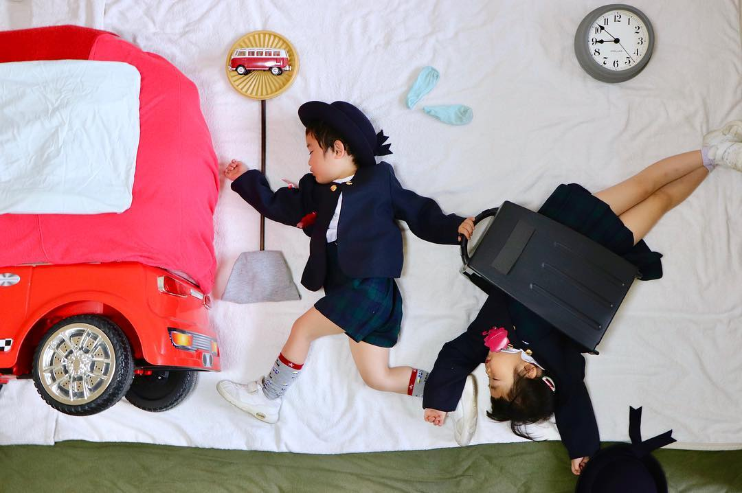 Japonesa Transforma A Soneca De Seus Filhos Em Incríveis Aventuras