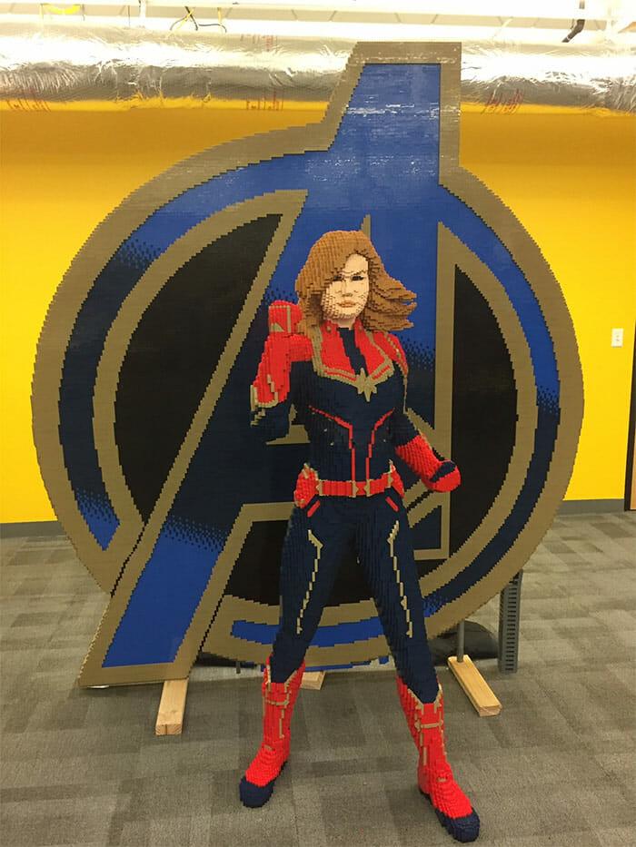 Capitã Marvel de Lego