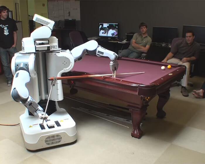 Vídeo Robô Jogando Sinuca
