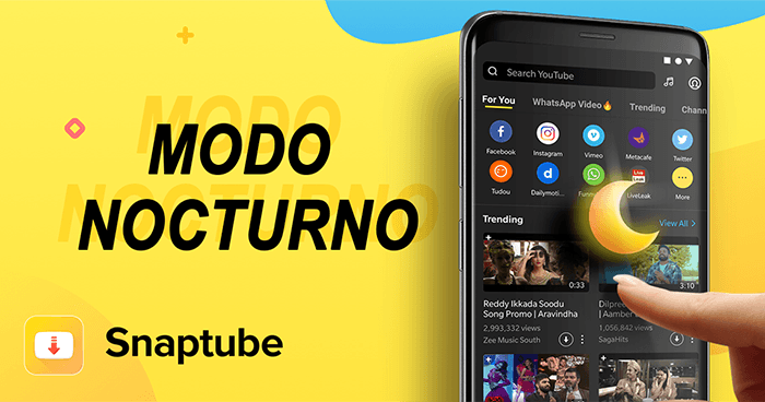 Snaptube dark mode