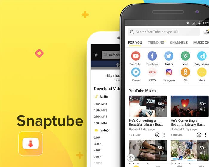 Snaptube aplicativo para baixar vídeos