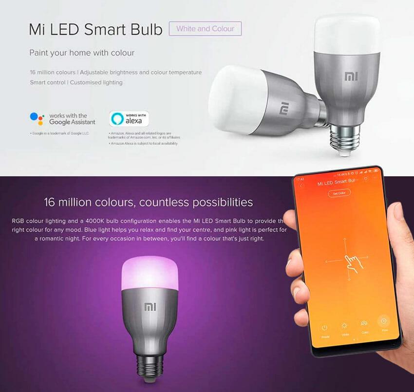 Lâmpada de LED Inteligente Xiaomi Mi Yeelight