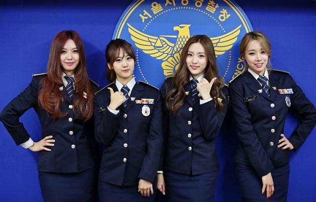 mulheres policiais lindas Coreia do Sul
